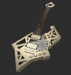 The Geometric Concept Guitar- I have to admit, this is pretty cool