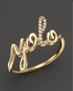 This 18-karat gold and pavé diamonds YOLO ring is a luxurious way to say live life to the fullest