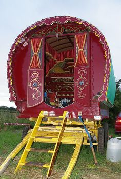 Gypsy caravan inhabited by 'gaujo'