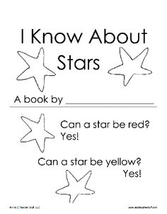 I Know About Stars Printable Book | A to Z Teacher Stuff Printable Pages and Worksheets