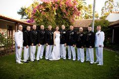 46-bridal-couple-men-in-uniform-strapless-dress-flower-tree-tile-roof