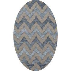 Dalyn Rug Co. Bella Beige/Blue Area Rug Rug Size: Oval 12' x 18'