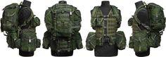 Russian 6Sh112 combat vest w/ daypack, surplus, PKM ammo pouches