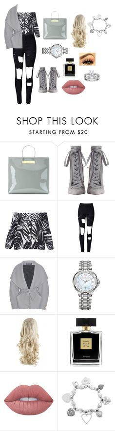 """Lilly 🦋"" by s-c-davies ❤ liked on Polyvore featuring Balenciaga, Zimmermann, Marc Jacobs, WithChic, Balmain, Maurice Lacroix, Avon, Lime Crime and ChloBo"