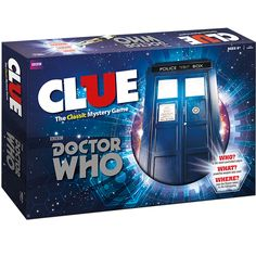 Doctor Who Clue Board Game Mystery Weapons Screwdriver Police Box USAopoly Multicolor Doctor Who Shop, Doctor Who Gifts, Bbc Doctor Who, Clue Board Game, Board Game Geek, Board Games, Aurora, Clue Games, Mystery Games