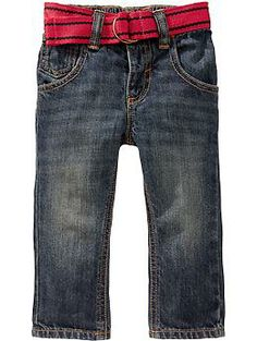 Canvas-Belted Jeans for Baby | Old Navy