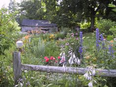 Our farm house gardens midsummer