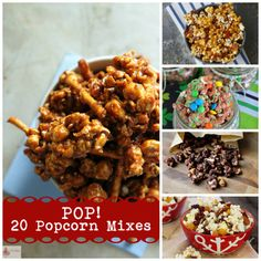 Popcorn is a whole grain, super inexpensive, and fun to watch pop over the stove or in the microwave. Try one of these combinations and perk up an old favorite!