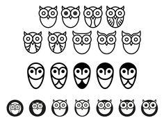 Unused owl logomarks