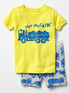 Keep truckin' short sleep set | Gap