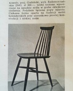 #Grabinski #chair #krzesło #stuhl #projektvintage #Poznań #furniture… Vintage Shop, Vintage Love, Retro Vintage, New Furniture, Furniture Design, Mid Century Furniture, Mid Century Design, Interior Inspiration, Decoration