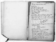 Thomas Edison To-Do List... Things doing and to be done...