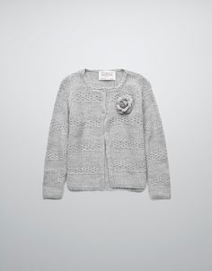 STRIPED JACKET TEXTURED WITH PATCHWORK - Cardigans and sweaters - Girl (2-14 years) - Kids - ZARA United States