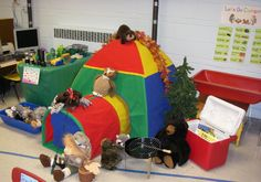 Camping role-play classroom display photo - Photo gallery - SparkleBox