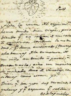"""Carta de Francisco de Goya a su amigo Martín de Zapater y Clevería donde le cuenta de la salud de su hijo """"echo un monstruo (...) inchado lleno de viruelas"""""""