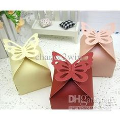 Wholesale Wedding Favor Butterfly Candy Boxes Bridal Party Gifts Packing Jewelry Boxes, $0.27/Piece | DHgate