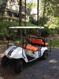 Golf Cars Of Hickory  The English Room Blog / Custom Golf Cart / Farrow and Ball Hague Blue and Charlotte's Locks