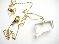 acrylic! state necklaces ! Connecticut by muzdesign on Etsy