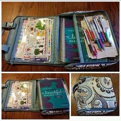 Thirty-One Hanging Traveling case... Use it to keep your planner and all your accessories together. :)