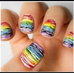 Generally, people thought nail art can be possible on long nails But actually, it's not so! Simple nail art designs for short nails are not only popular Get Nails, Love Nails, How To Do Nails, Pretty Nails, Hair And Nails, Crazy Nails, Gorgeous Nails, Simple Nail Art Designs, Cute Nail Designs