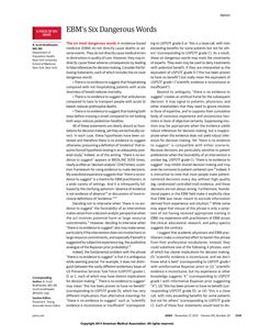 JAMA Network | JAMA | EBM's Six Dangerous Words-- THERE IS NO EVIDENCE TO SUGGEST--  very interesting