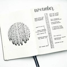 bonjournal_ My November #bulletjournalmonthlylog with birch trees inspired by the talented artist @asebalko . I have been separating my personal and work tasks in my monthly logs since April, and i can't overstate how helpful it is! Have you tried it!? Tag me if you do and let me know how it works out #aodotgridchallenge