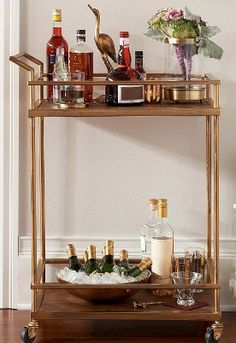 Such a chic bar cart - and so affordable too!