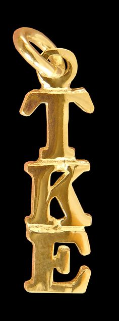 Tau Kappa Epsilon Fraternity 10kGold Greek Letter Drop Lavalier available in Good Things From Louisiana, an ebay store.