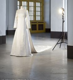 Princess Sofia, Crown Princess Victoria and Queen Silvia gathered in Stockholm today at a new exhibition of royal wedding dresses. The Swedish royals have all donated their own bridal gowns. Queen Wedding Dress, Royal Wedding Gowns, Couture Wedding Gowns, Queen Dress, Royal Weddings, Bridal Gowns, Wedding Dresses, Stunning Dresses, Beautiful Gowns