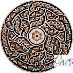 MD040 Marble Mosaic Medallion