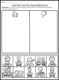 Behavior Picture Sorts #classroommanagment #backtoschool #firstday #firstweek #procedures #sorts #pictures #kinder #firstgrade #secondgrade #deskbehavior #teaching Kindergarten Behavior, Classroom Behavior Management, Kindergarten First Day, Classroom Rules, Kindness Activities, Preschool Activities, Beginning Of School, Back To School, Emotion