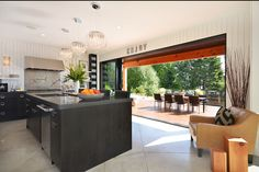 I love how the kitchen opens up to the patio.