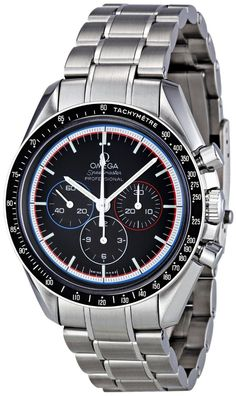 Omega men watches : Omega Men's 311.30.42.30.01.003 Black Dial Speedmaster Watch