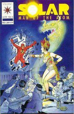 Solar, Man of the Atom Name First Strike Part Foe / Alpha And Omega Part 8 Cover Date April 1992 Comic Book Covers, Comic Books, Comic Book Companies, Kickin It Old School, Savage Dragon, Valiant Comics, Comic News, Classic Comics, Dark Horse