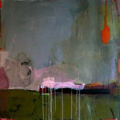 "Madeline Denaro ""To know when to pick the fruit"" 2007 acrylic 56"" x 56"""