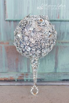 Brooch bouquet - all white