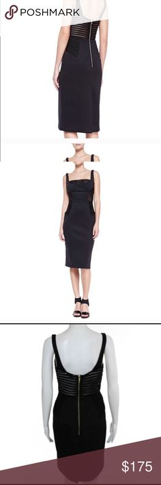 Milly black cocktail dress Sexy yet sophisticated black cocktail dress. Perfect for the holidays. Hits just below the knee I length. Never worn. Brand new with tags Milly Dresses