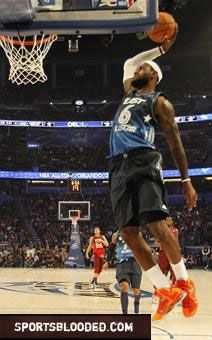Lebron James dunk at the 2012 NBA All-Star game. Check out the highlights from the game here- http://www.sportsblooded.com/see-this/durant-west-win-all-star-game/