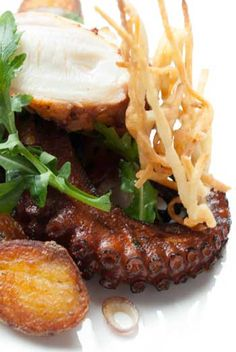 Grilled Octopus with Chapa Style Potatoes