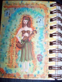 ukulele lady art journal
