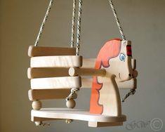 Wooden Handmade Horse Swing Baby Swing Handmade by GreenWoodLT