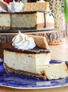 S'mores Cheesecake- No Campfire Needed!