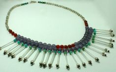 Art Deco Inspired Beaded Fringe Necklace