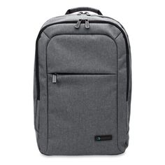 15 inch MacBook Pro Laptop CaseCrown Waltham Backpack (Gray) w/ Padded Compartment