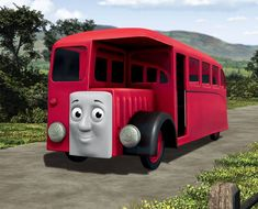 bertie Thomas And Friends Movies, Cars 2006, 2000 Cartoons, Red Bus, London Transport, Thomas The Tank, Small Towns, Transportation, Engineering