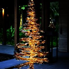 Our homemade #Christmas tree by using driftwoods collected from the island's seashores. - at Shangri-La's Villingili Resort & Spa, #Maldives #ShangriLaLaLa
