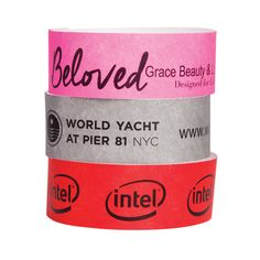Ready in 7-10 business days, this custom designed, high-quality, custom one color wristband is the perfect Tyvek (R) self-adhesive band for your next event. The sequentially numbered, non-reusable, tamper proof, tear-resistant and waterproof bands are perfect for high security events. Sold in 1000 counts, this wristband is shipped for free in the continental US. Customize with your company logo for brand-building appeal.