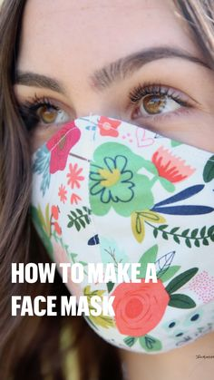 Embroidery Patterns, Hand Embroidery, Knitting Patterns, Sewing Patterns, Easy Face Masks, Diy Face Mask, Learn To Sew, How To Make, Learn Sewing