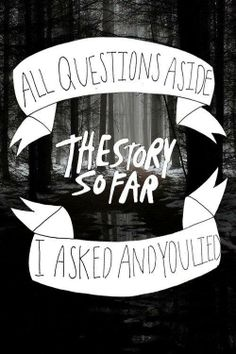 """All questions aside, I asked and you lied."" - The Story So Far"