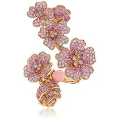 MORPHEE JOAILLERIE Cherry Blossoms Collection Ring ($17,930) found on Polyvore featuring jewelry, rings, accessories, rose, cherry blossom jewelry, pink jewelry, rose ring, pink ring and pink rose ring